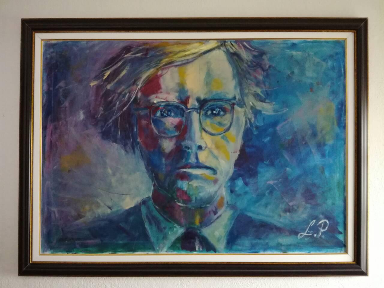Портретът на Анди Уорхол, 130×85 см. Любиша Пенев